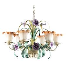 westmore lighting 6 light hand painted chandelier