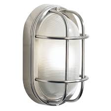 Stainless Steel Exterior Oval Wall Light The Lighting Centre - Exterior lights uk