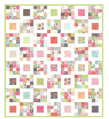 Free Charm Pack Quilt Patterns - U Create & Four Squared Quilt Pattern Tutorial by Aunt Polly's Porch Adamdwight.com