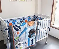 f c l 8 pieces baby boy sport crib bedding set blue 1