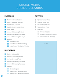 Social Media Spring Cleaning Checklist Free Download
