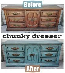 distressed blue furniture. Chunky Sea Blue Dresser Before After Facelift Furniture 2017 And Distressed Pictures R