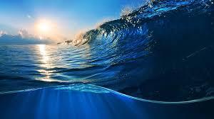 ocean waves sunlight scenery 4k