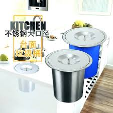small countertop trash can incredible size of target decorative cans regarding garbage promotional embedded kitchen stainless small countertop trash can