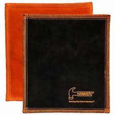 details about new hammer shammy black orange removes oil leather pad bowling ball towel