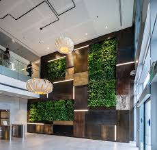 office feature wall. Office Lobby With Green Walls Feature Wall