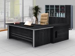design of office table. Elegant Black Office Table Design And Grey Framing Ideas Cream Swivel Chair Desk Of D
