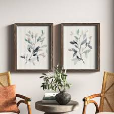 Turn them into glass picture frames for your favorite family photos or hang them on their own and add a wreath for color. 2 Piece Wall Art Joss Main
