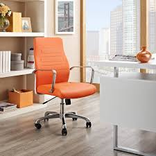office orange. Depict Mid Back Aluminum Office Chair In Orange - Lifestyle
