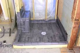 tile redi shower pan installation tile shower base drain ready pan with bench seat how to install a liner redi tile shower base installation instructions