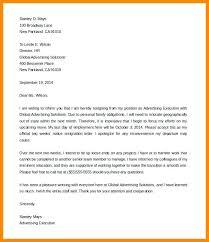 One Week Notice Resignation Letter Sample Week Notice Letters Two Weeks Resignation Letter One