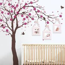 flower wall decals for nursery cherry blossom tree wall decals baby room nursery large tree with
