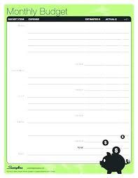 Free Printable Weekly Budget Worksheet Template Spreadsheet