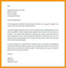 Template Appeal Letter For Dismissal Of Against Grade Unfair