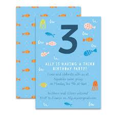 Children Birthday Invitations Personalised Fish Childrens Birthday Invitations