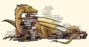 "definitelydragonrpgideas: ""isabellegedigk: ""Happy book dragon :) "" This  guys looks like he might be a good source of … | Book dragon, Dragon  drawing, Dragon art"