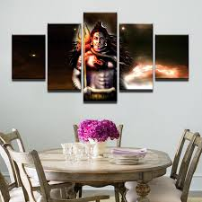 modern frames for paintings canvas painting mahesvara cuadros 5 panel india shiva home decoration art print modular pictures in painting calligraphy