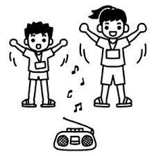 イラスト素材 ラジオ体操 の カット絵 夏休み Naver まとめ