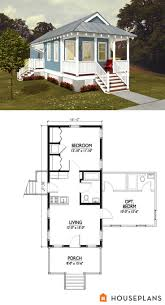 cute idea for a apartment in backyard Katrina Cottage floor Plan with  optional bedroom houseplans