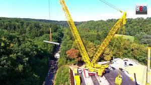 Monster Kran Liebherr Lr 11000 Lifting A Railway Bridge Part Brückenhub Burgstall 2018