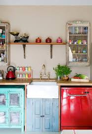 vintage kitchens with modern rustic