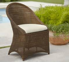 Palmetto All Weather Wicker Dining Chair Honey