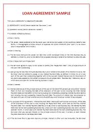 Business Loan Agreement Fascinating 44 Loan Agreement Templates Samples Write Perfect Agreements