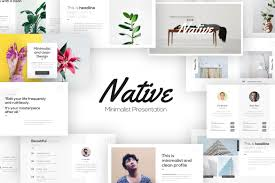 Powerpoint Design Templates Download Native Minimalist Powerpoint Template By Brandearth On