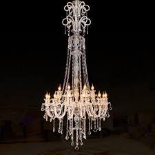 high ceiling chandeliers large modern crystal chandelier for high ceiling extra large chandelier living room