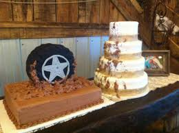 Bride Burlap And Groom Cakes Jeep Mud Riding A Fun Cake To