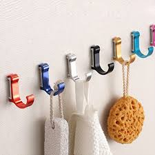 colorful coat hooks. Interesting Hooks Aluminum Bathroom Single Robe Hook WallMounted Colorful Clothes Hook Wall  Hangers Hat Key Coat For Colorful Coat Hooks C