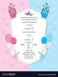 Birthday Invatations Bagirl And Baboy Royal Birthday Invitation