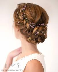 small flowers in braids wedding hair ideas by hair and makeup by steph confetti