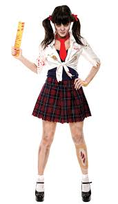 women s zombie school girl costume costumes