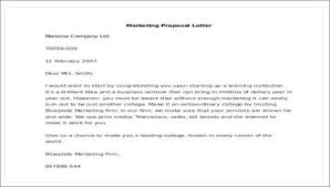 A Sample Of A Proposal Sample Marketing Proposal Letter 5 Examples In Pdf Word