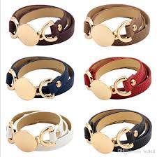 2019 new style monogram leather bracelet hottest trendy with blank disc multiple wrap leather bracelet from weled 1 71 dhgate com