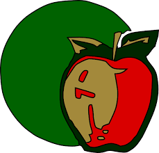 apple fruit clip art. free vector apple fruit plant clip art