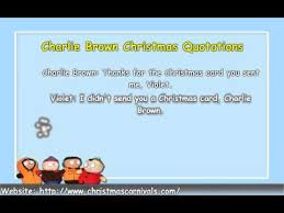 Charlie Brown Christmas Quotes Classy Charlie Brown Christmas Quotes YouTube