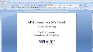 Apa Line Spacing Apa Format For Microsoft Word Line Spacing