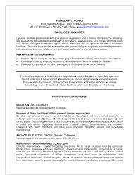 Facility Manager Resume Format Socalbrowncoats