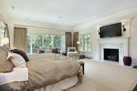 Modern Fireplace In Master Bedroom