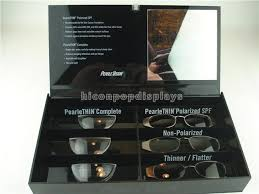 black acrylic sunglasses display case countertop visual glasses display showcase