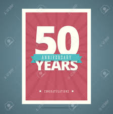 Template Anniversary Card 50 Year Anniversary Card Poster Template