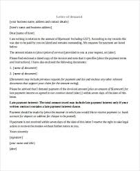 Business Demand for Payment Letter