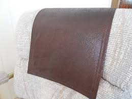 sofa headrest covers. get quotations chair covers recliner pads headrest furniture protectors std dk brown leather look 12x30 sofa e