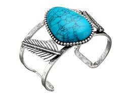 steve madden turquoise stone w leaves open cuff bangle bracelet silver womens jewelry bracelets cuffs steve madden shoes near me top designer collections