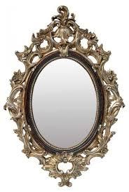 terrific baroque mirrors at french chic roccoco black metalic frame ornate mirror