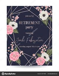 Invitation Cards Designs For Retirement Party Retirement Party Invitation Design Template Rose Gold