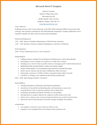 Entry Level Resume Template Microsoft Word Word Doc Resume Template Entry Level Resume Open Resume Templates