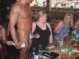 Housewife sucking male stripper